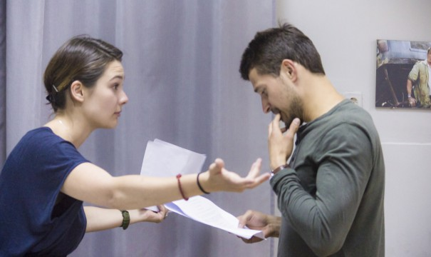 Even during the rehearsals actors were beyond expressive.